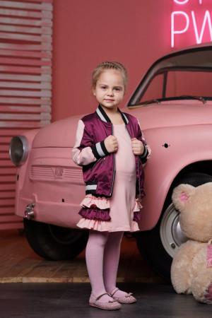 Демісезонний комплект бордового кольору для дівчаток