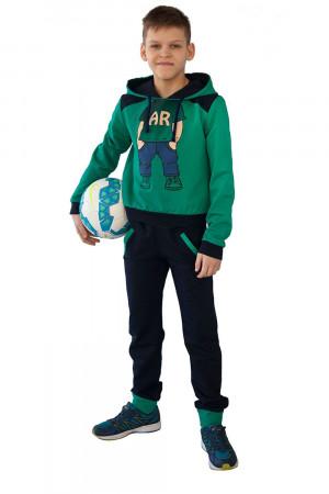 Зеленый спортивный костюм для мальчиков