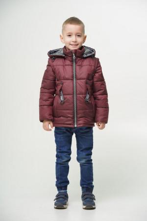 Демисезонная куртка бордового цвета для мальчиков