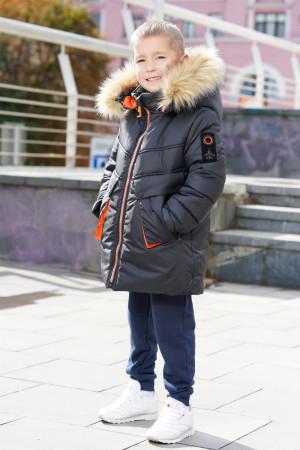 Зимняя куртка для мальчиков цвета графит