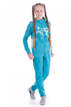 Спортивный костюм для девочки цвета волна