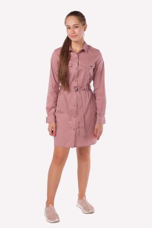 Платье-рубашка кремового цвета