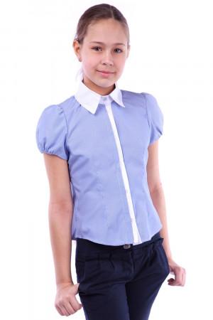 Смугаста шкільна блузка для дівчаток кольору електрик