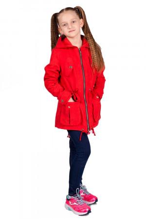 Красная ветровка с капюшоном для девочек