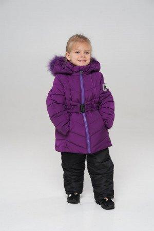 Фіолетовий зимовий комбінезон для дівчаток