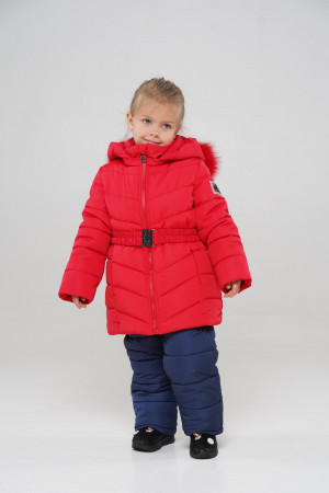 Красный зимний комбинезон для девочек