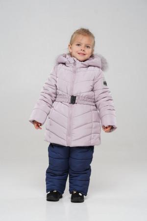 Ніжно-рожевий зимовий комбінезон для дівчаток
