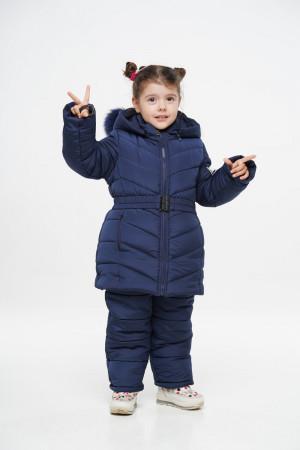Синій зимовий комбінезон для дівчаток