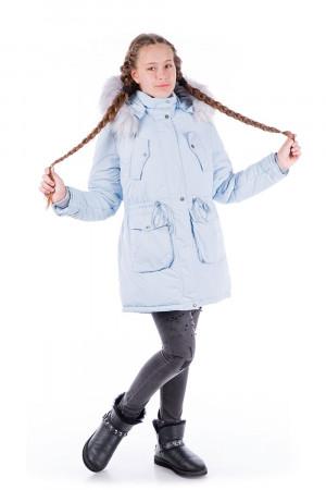 Зимняя парка для девочки-подростка цвета лед