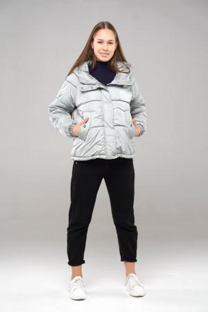 Демисезонная куртка с капюшоном для девочек фисташкового цвета