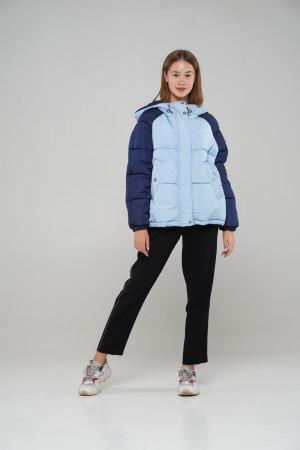 Голубо-синяя демисезонная куртка для девочек