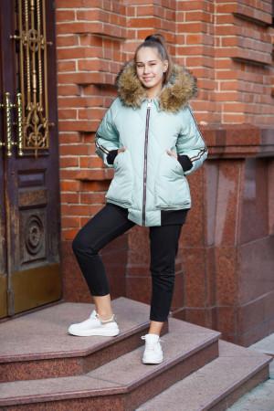 Зимняя куртка оливкового цвета для девочек
