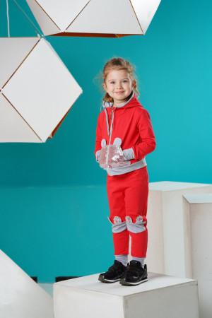 Спортивный костюм для девочек кораллового цвета