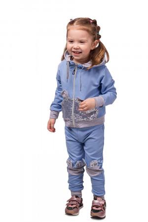 Спортивный костюм для девочек лазурного цвета