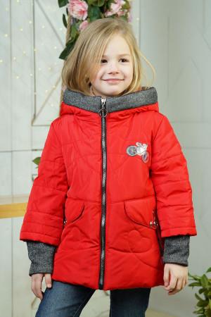 Красная демисезонная куртка для девочек